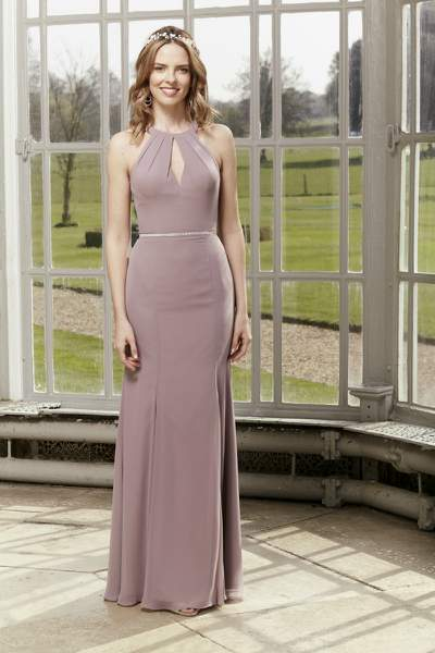 Mauve Bridesmaid Dress, Hotfrox, Evening Dress